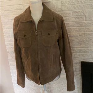 Charter club suede leather jacket